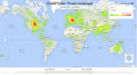 Mapa de las amenazas cibertataques
