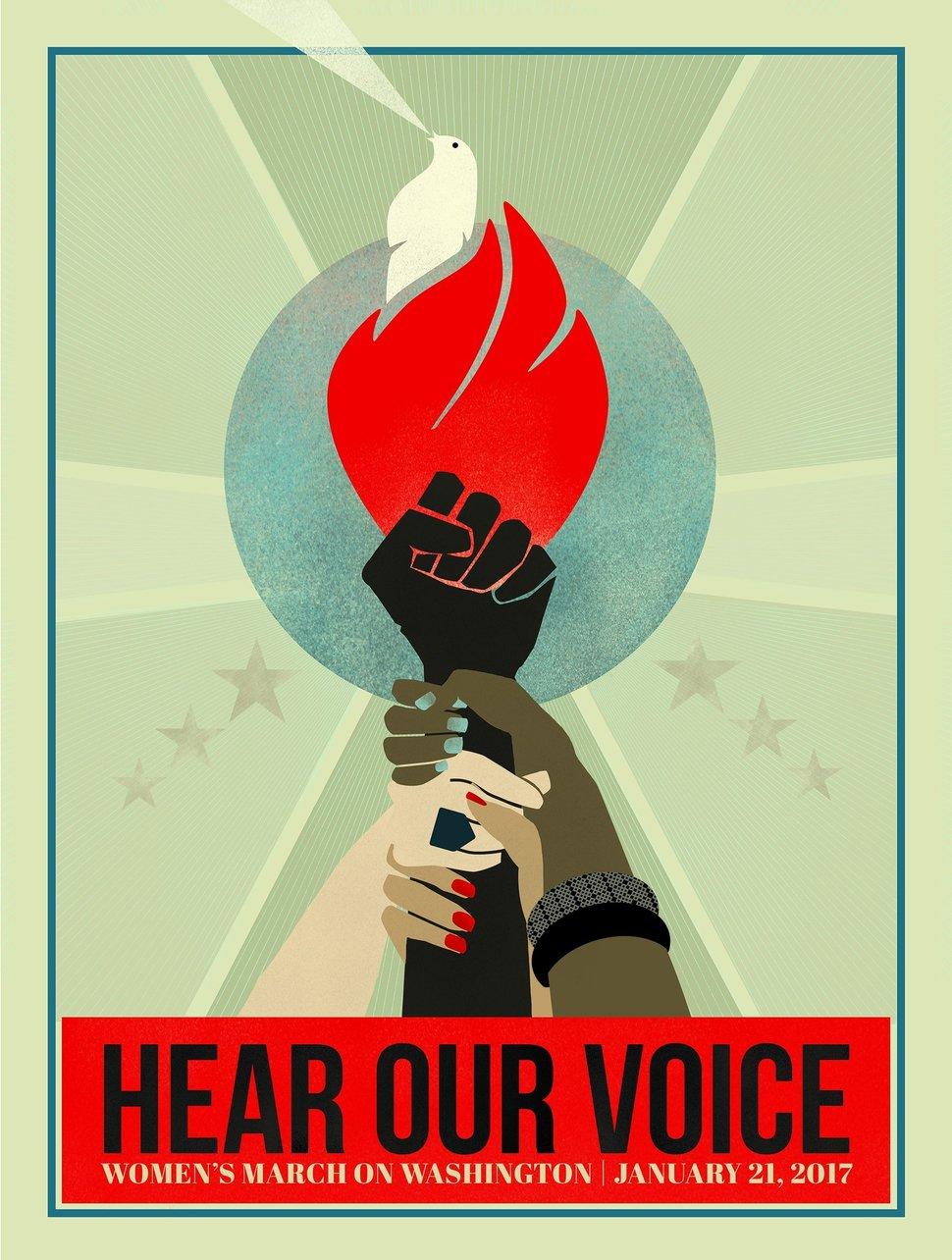 Cartel de la Marcha de las mujeres, celebrada en todo Estados Unidos el 21 de enero de 2017.
