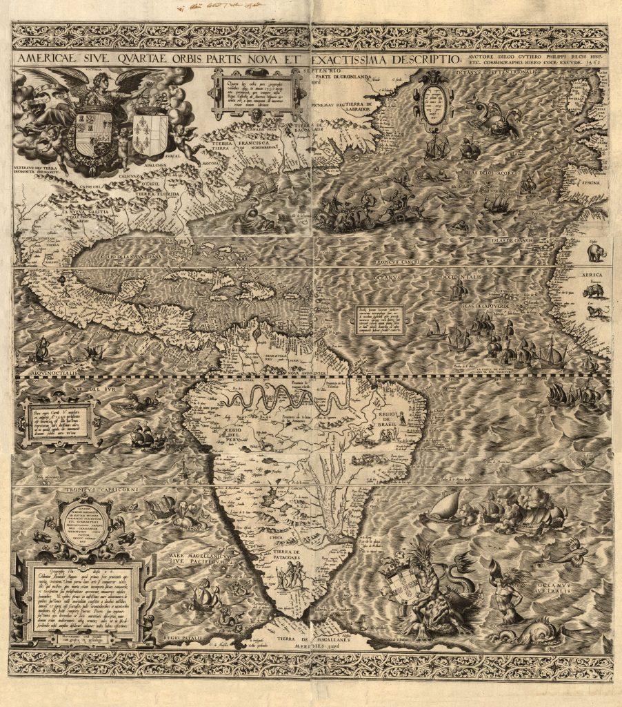 Americae sive qvartae orbis partis nova et exactissima descriptio