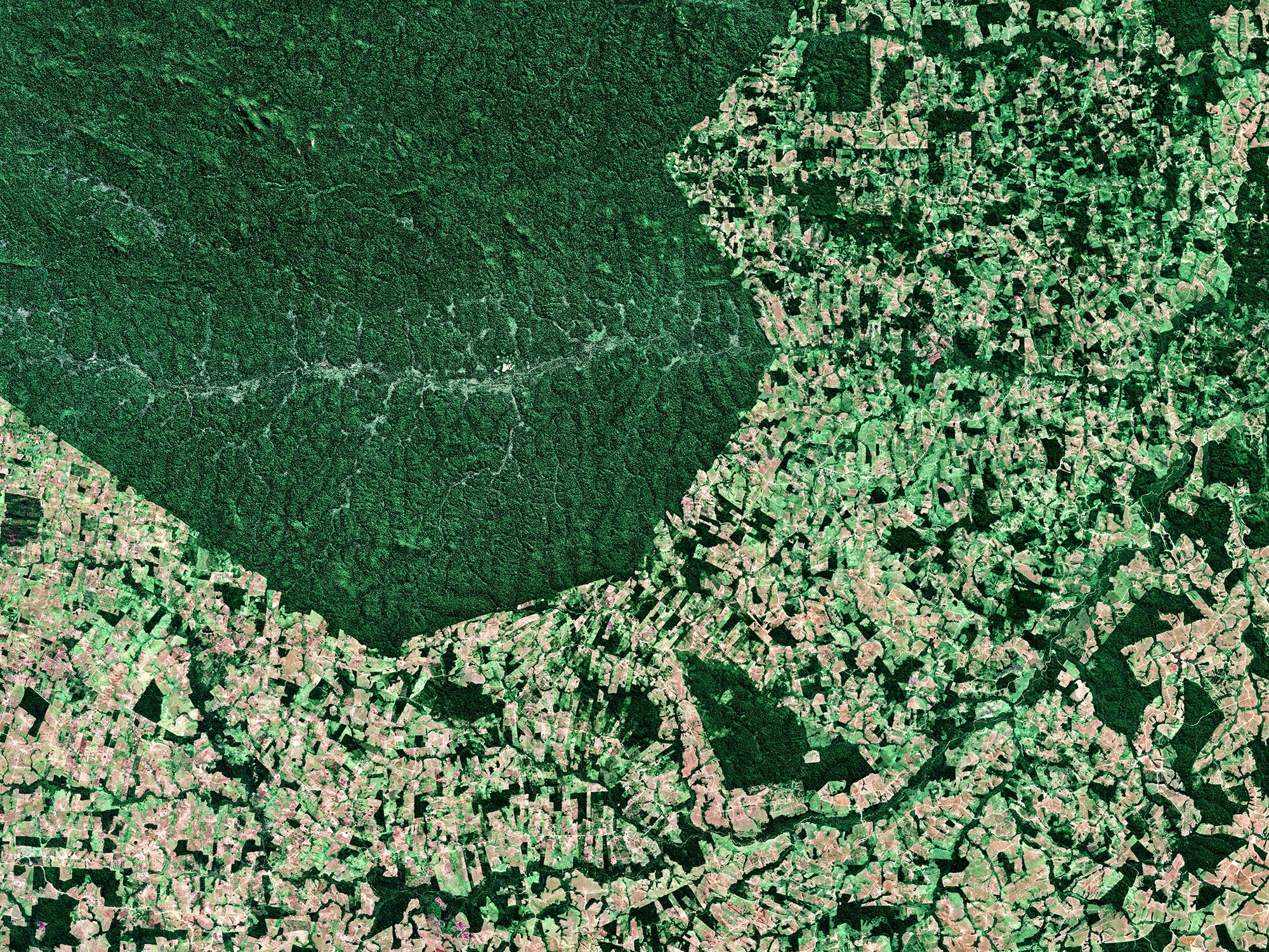 Satellite views of Parakana Indigenous Reserve