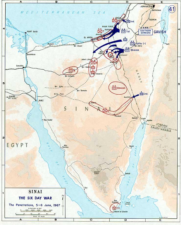 guerra seis dias_mapa