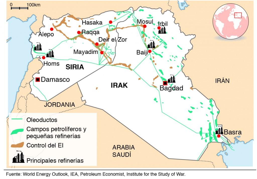 Petróleo en Irak y Siria