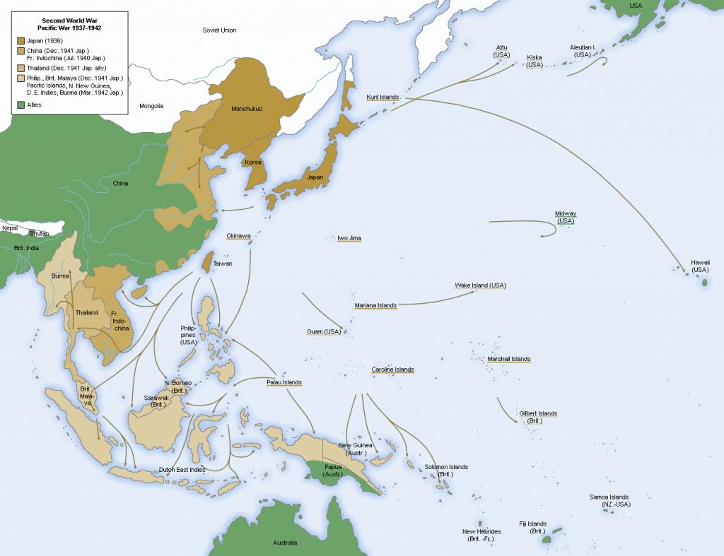 Avances militares japoneses hasta mediados de 1942