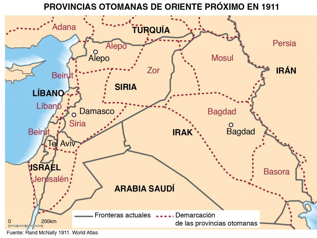 Provincias del Imperio Otomano en Oriente Próximo