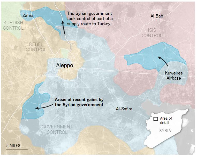 La batalla en torno a Alepo