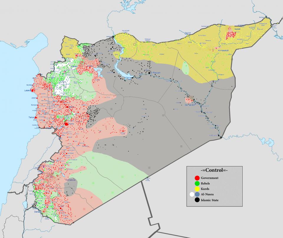 Guerra De Siria Mapa.Sectarismo Y Yihad En El Conflicto Sirio