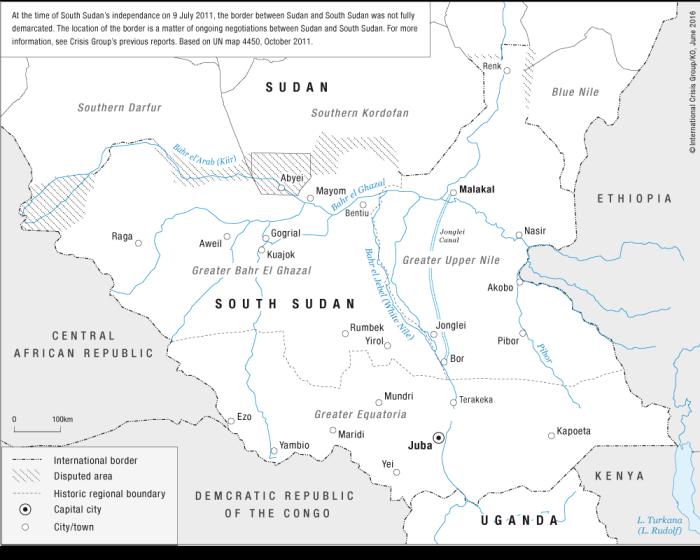 Fronteras de Sudán del Sur